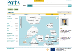 Screenshot of the PATHS user interface