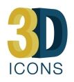 3D ICONS project logo