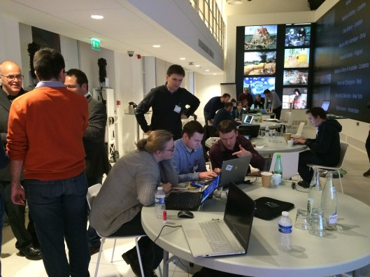 Image showing the developers at work in the Lab at the Google Culture Insitutie