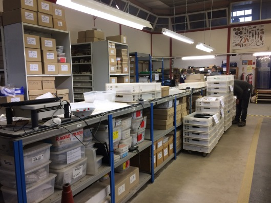 Image showing the archives preparation and storage at Wessex Archaeology